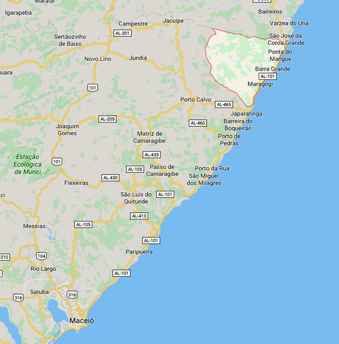 Mapa: Onde fica Maragogi