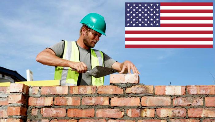 Quanto ganha um pedreiro nos Estados Unidos?