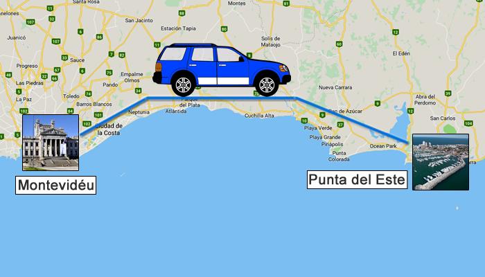 Como ir de Montevidéu para Punta del Este?