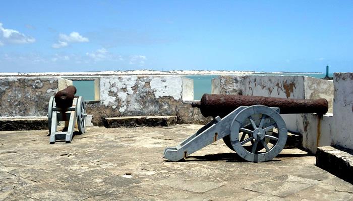 Canhões do Forte dos Reis Magos, em Natal-RN