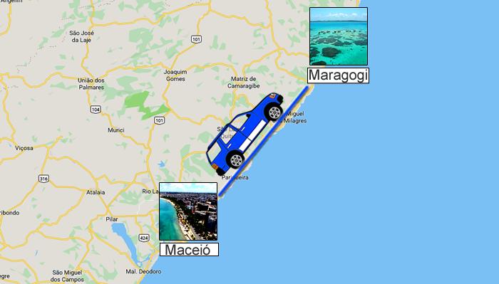 Como ir de Maceió ou Recife para Maragogi