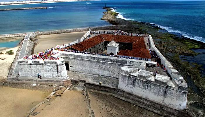 Forte dos Reis Magos, em Natal-RN: vista aérea