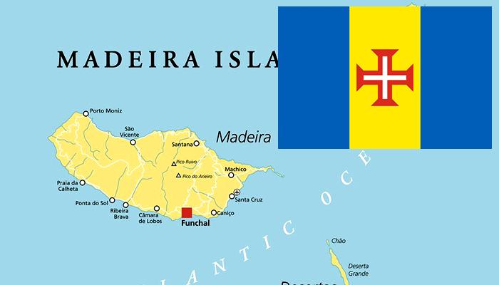Mapa e Bandeira do Arquipélago da Madeira