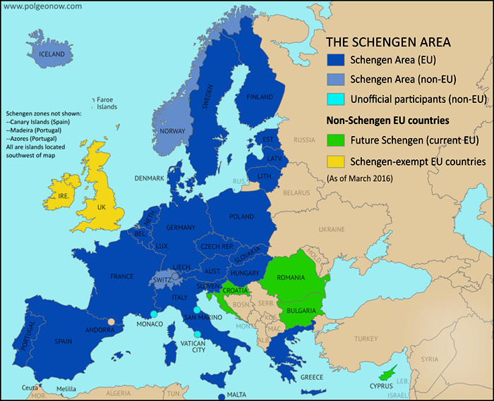 Países do Espaço Schengen
