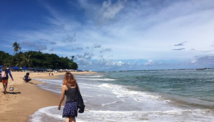 Mar da Praia de Itapuã, em Salvador/BA