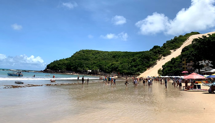 Praia de Ponta Negra, em Natal/RN