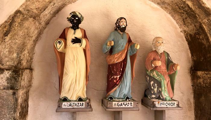 Imagens dos três reis magos, no Forte dos Reis Magos