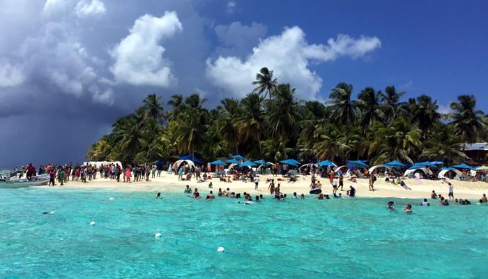 Praia Johnny Cay, em San Andrés