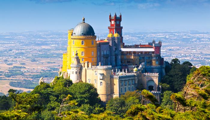 Palácio da Pena, na cidade de Sintra, Portugal