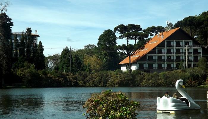 O que fazer em Gramado/RS: Pedalinho no Lago Negro