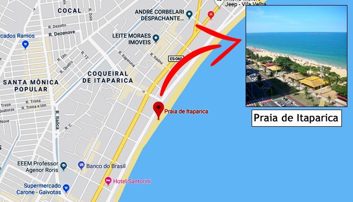 Mapa: Onde fica a Praia de Itaparica