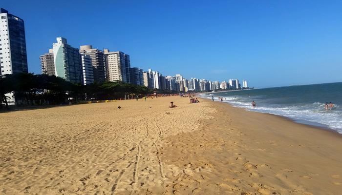 Praia de Itaparica, em Vila Velha/ES