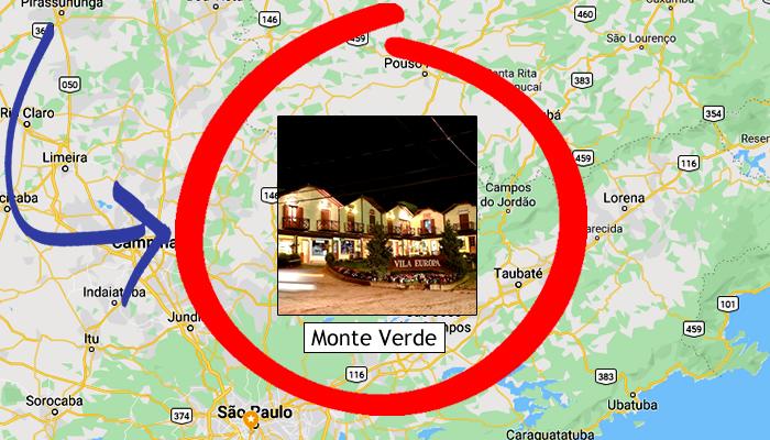 Como chegar em Monte Verde/MG?