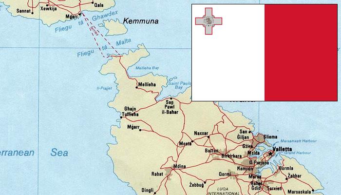 Bandeira e Mapa de Malta