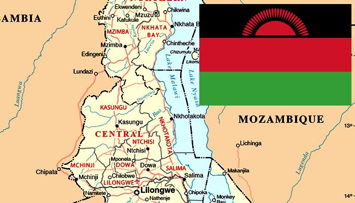 Bandeira e Mapa do Malawi (Maláui)