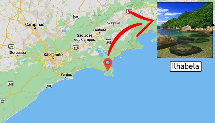 Mapa: Onde fica Ilhabela (SP)
