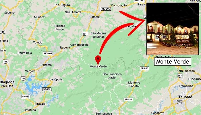 Mapa: Onde fica Monte Verde/MG