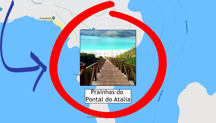Como ir para as Prainhas do Pontal do Atalaia (RJ)?