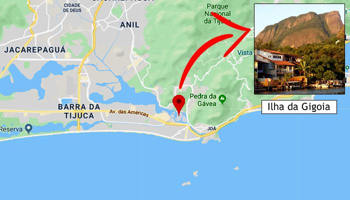 Mapa: Onde fica a Ilha da Gigoia (RJ)