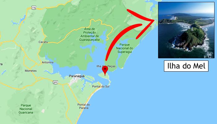 Mapa: Onde fica a Ilha do Mel