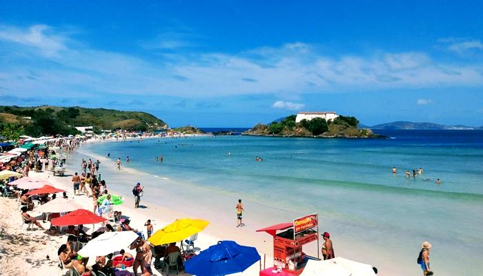 Praia do Forte, em Cabo Frio/RJ