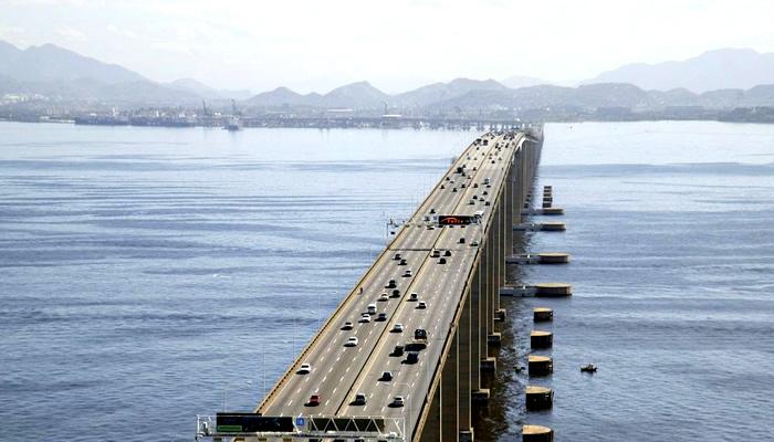Histórias e Curiosidades da Ponte Rio-Niterói: Vista Aérea