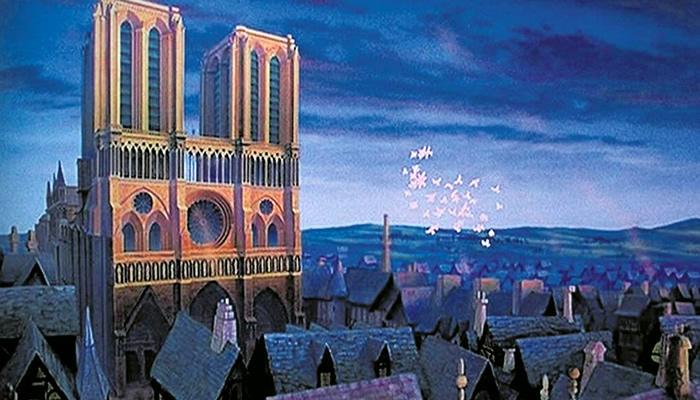 """Catedral de Notre-Dame no filme """"O Corcunda de Notre-Dame"""""""