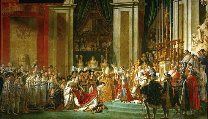 Representação da coroação do Imperador Napoleão Bonaparte e da Imperatriz Josefina de Beauharnais