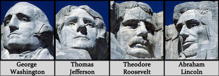 Quem são os presidentes do Monte Rushmore?