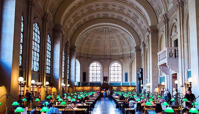 Passe um dia na Biblioteca Pública de Boston
