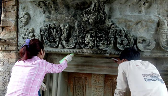Templo de Angkor Wat (Camboja): German Apsara Conservation Project