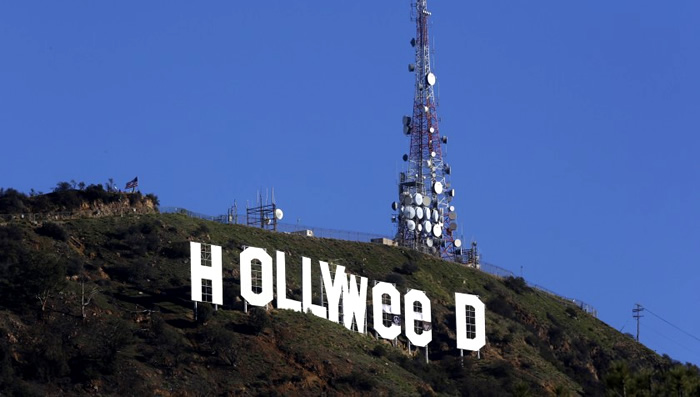 Letreiro de Hollywood: Hollyweed