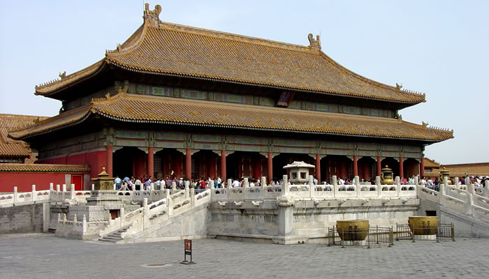 A Cidade Proibida, na China: Palácio da Pureza Celestial