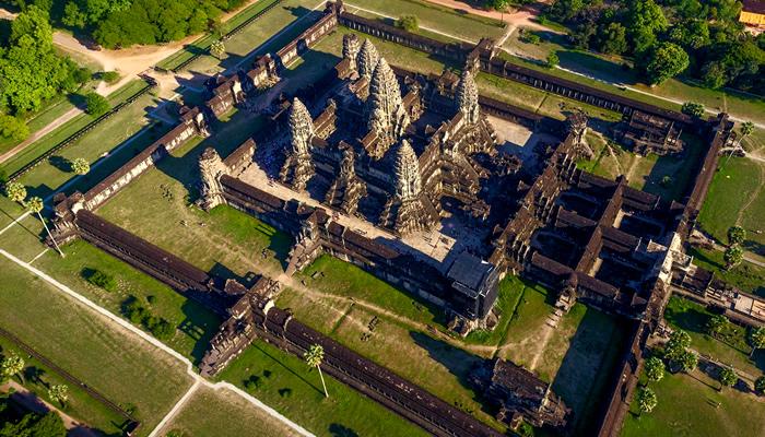 Templo de Angkor Wat (Camboja): Vista aérea