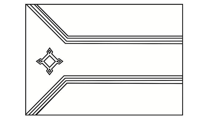 [Para Imprimir] Bandeira do Amapá para Colorir (preto e branco)!