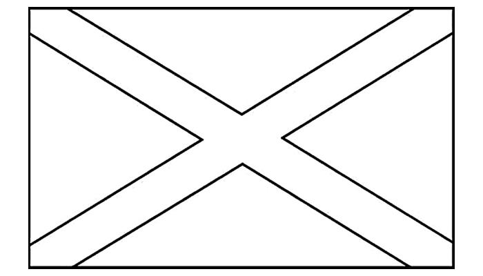 [Para Imprimir] Bandeira da Jamaica para Colorir (preto e branco)!