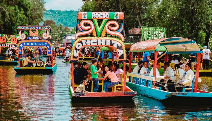 Os canais de Xochimilco