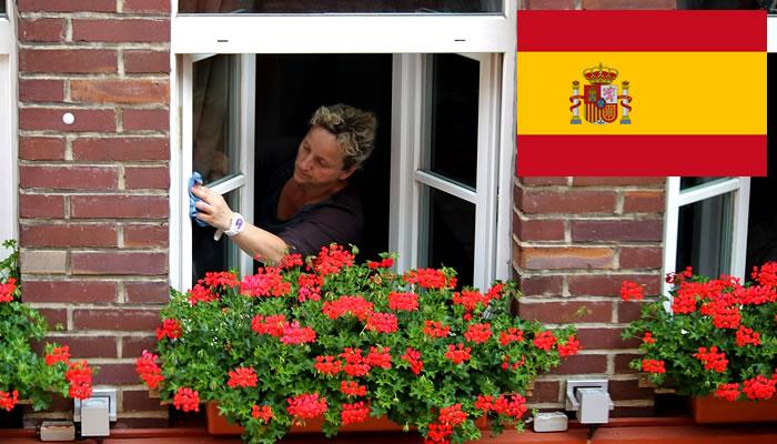 Quanto ganha uma faxineira na Espanha?