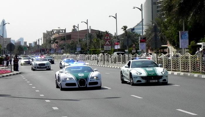 A polícia de Dubai gasta com carros o suficiente para custear quatro anos de faculdade