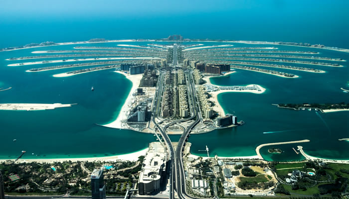 Dubai tem uma ilha artificial com as proporções de um deserto