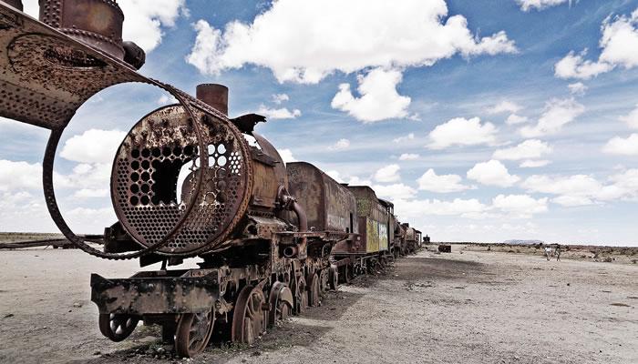 Vá ao cemitério de trens